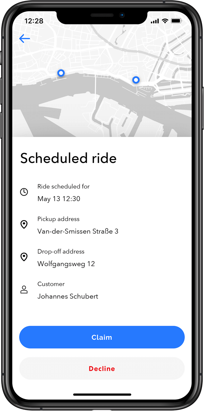 Advanced scheduling of rides for ride hailing businesses