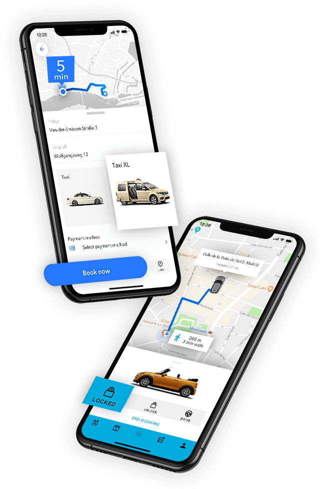 M-TRIBES Mobile Apps for Ride and Taxi Hailing and Car Sharing