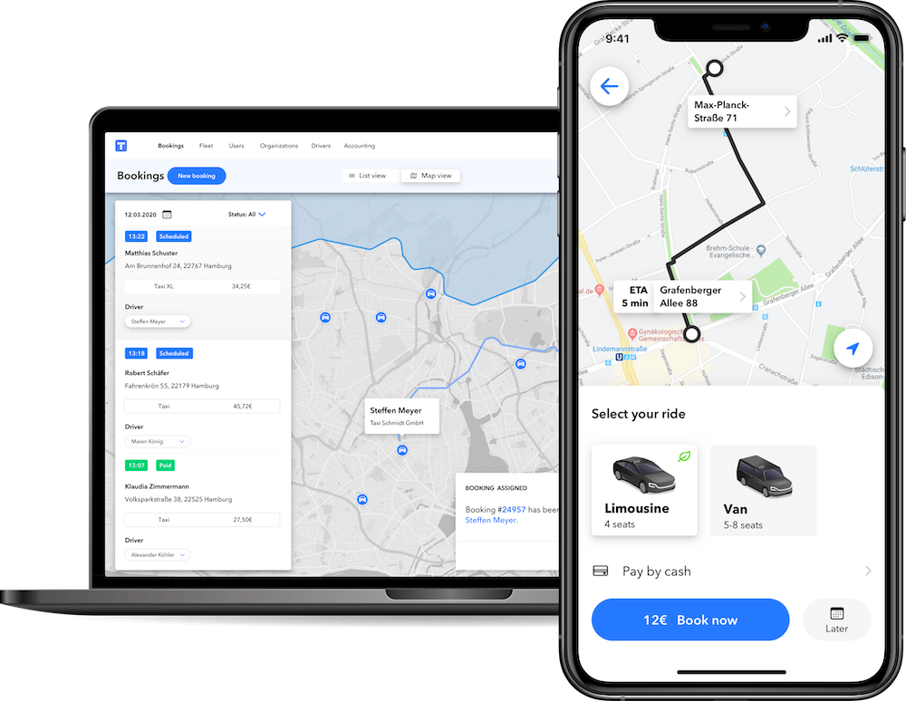 Ride-hailing dispatch and booking software - pricing