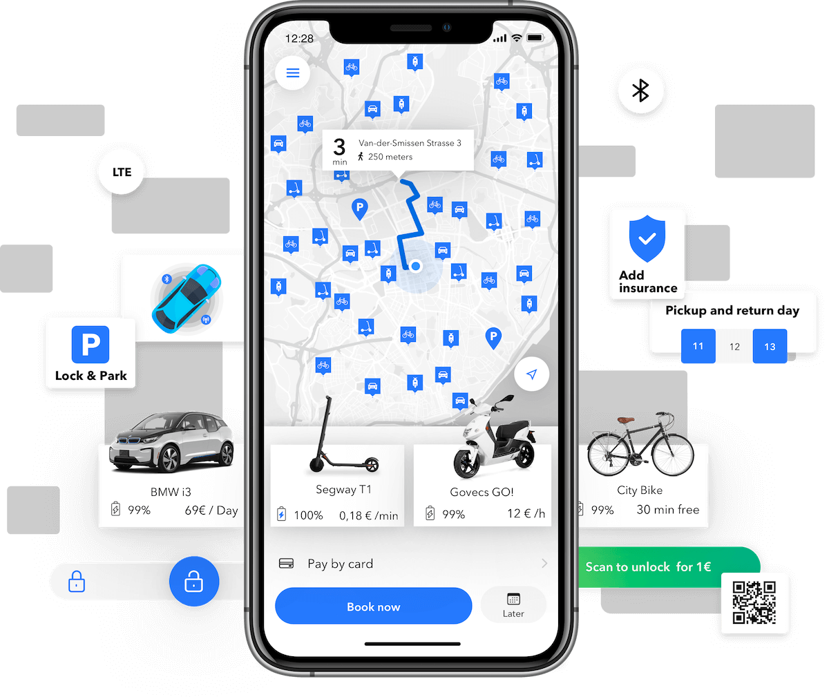 Car Sharing, Scooter Sharing, Bike Sharing Software
