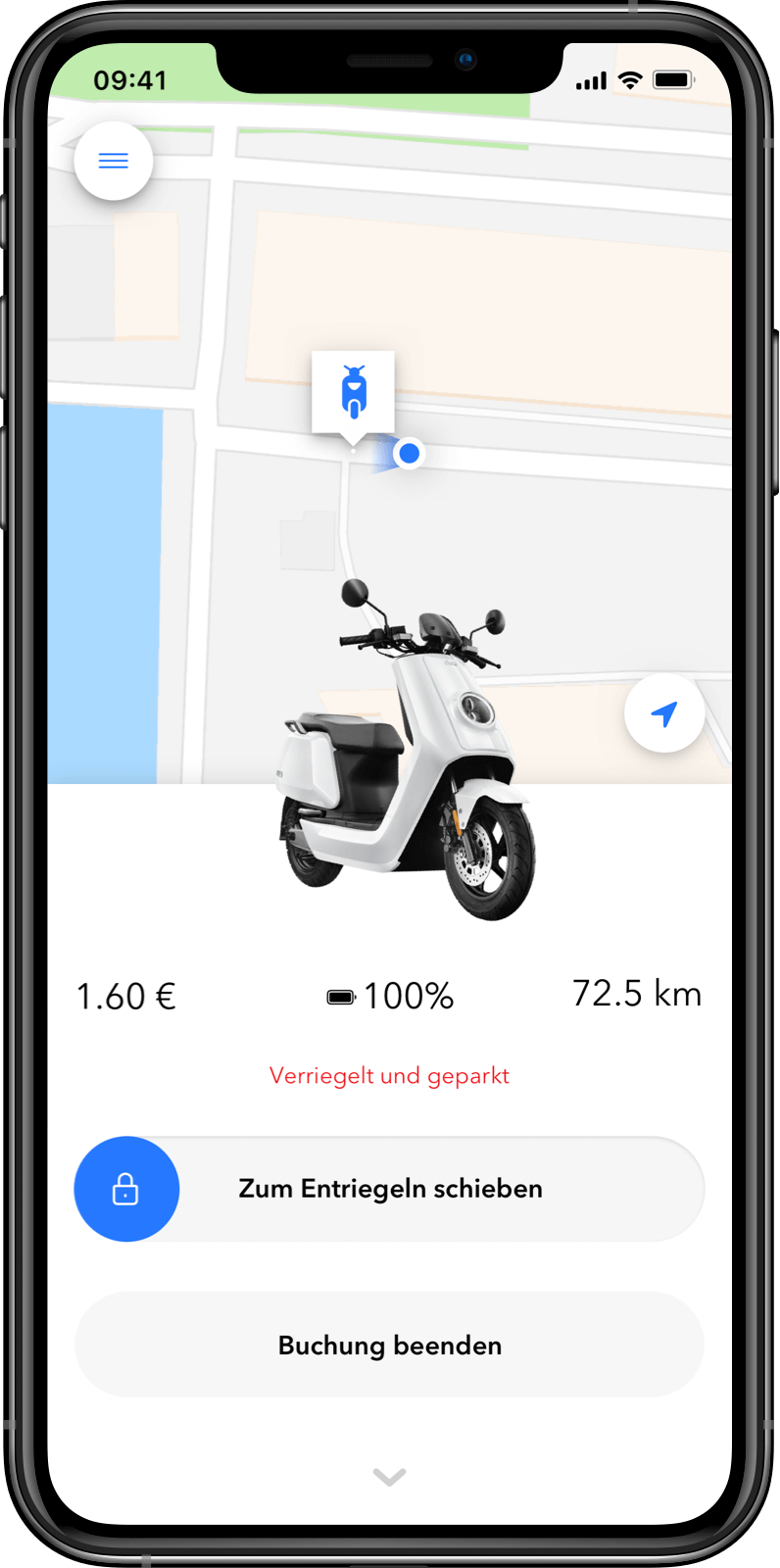 Kunden-App Parkmodus