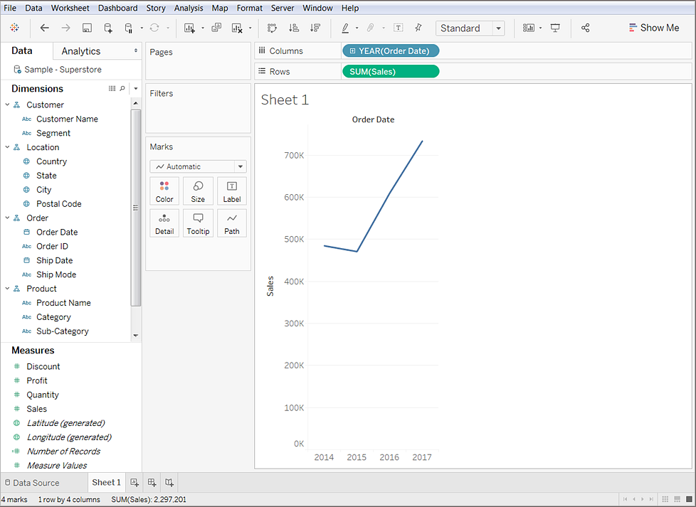 Analyze Data Tableau