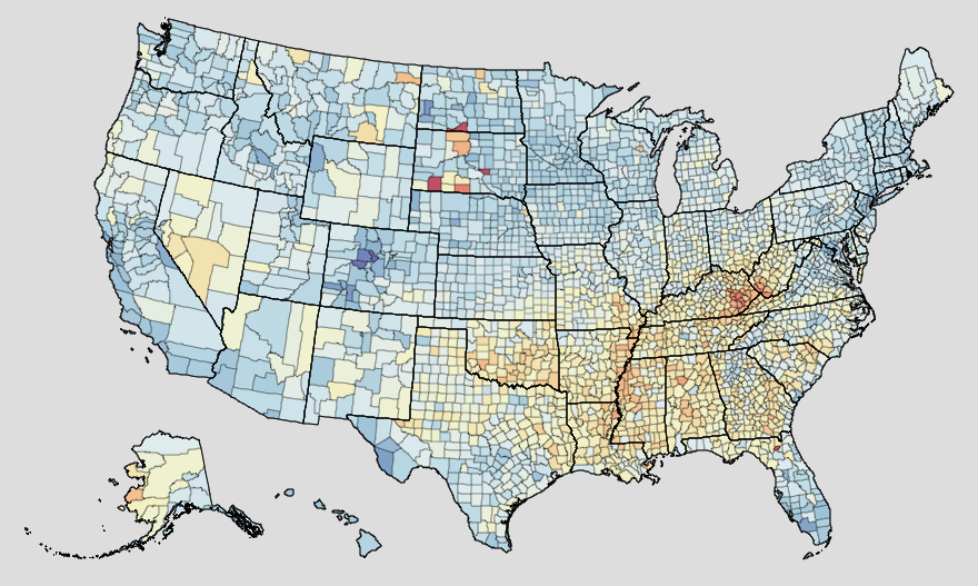US Health Trends Map by County