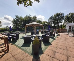 Sun trap beer garden