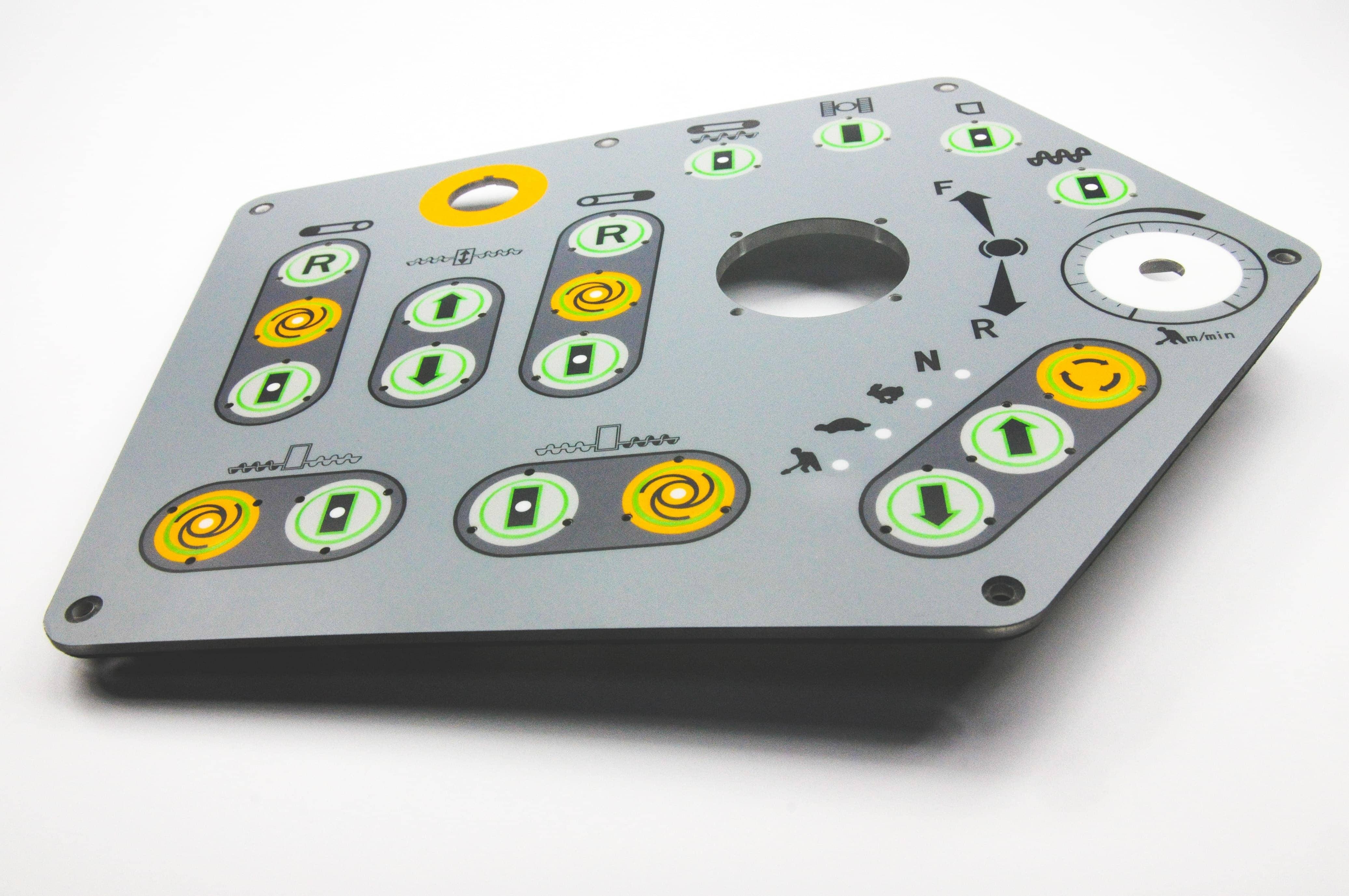 Folientastatur mit Buttons