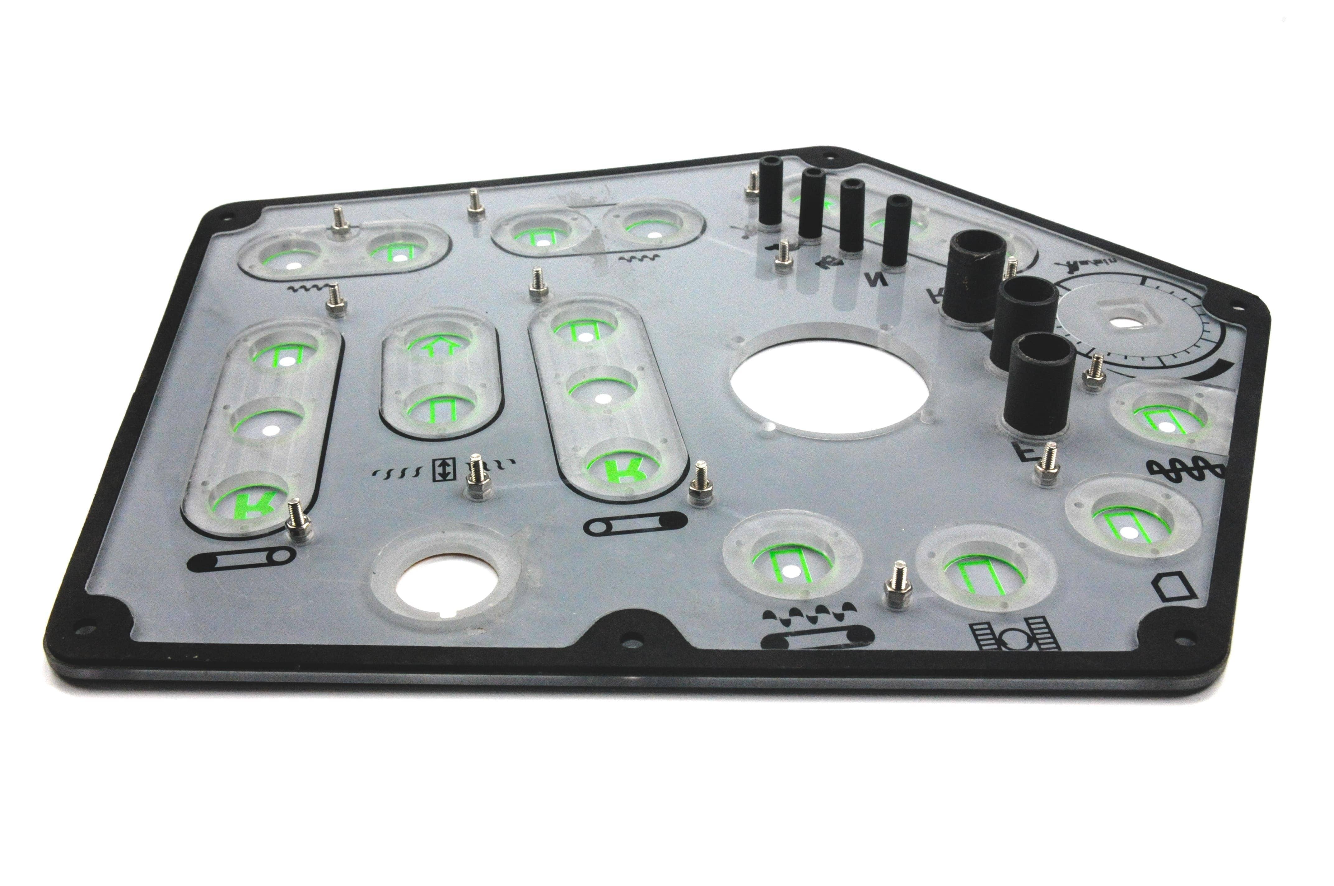 Folientastatur mit Buttons von hinten