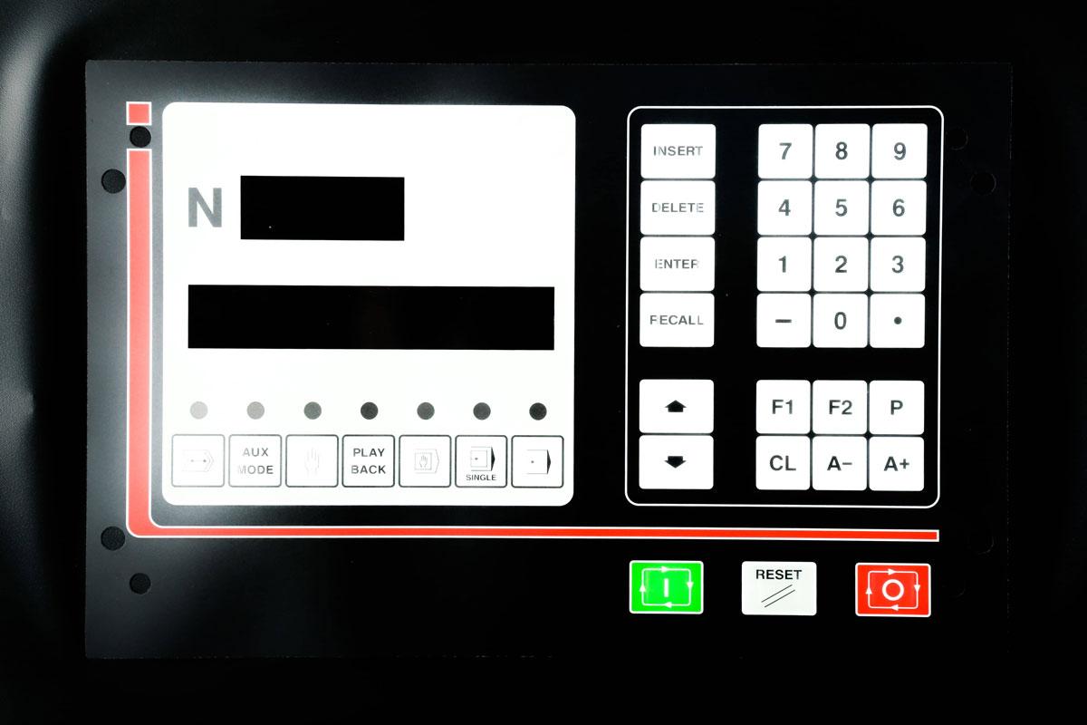 Folientastatur mit Buttons und Nummernpad