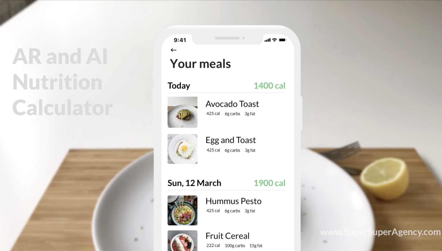 Then your meal gets listed with the rest of your meals by day. And it's easy as that!