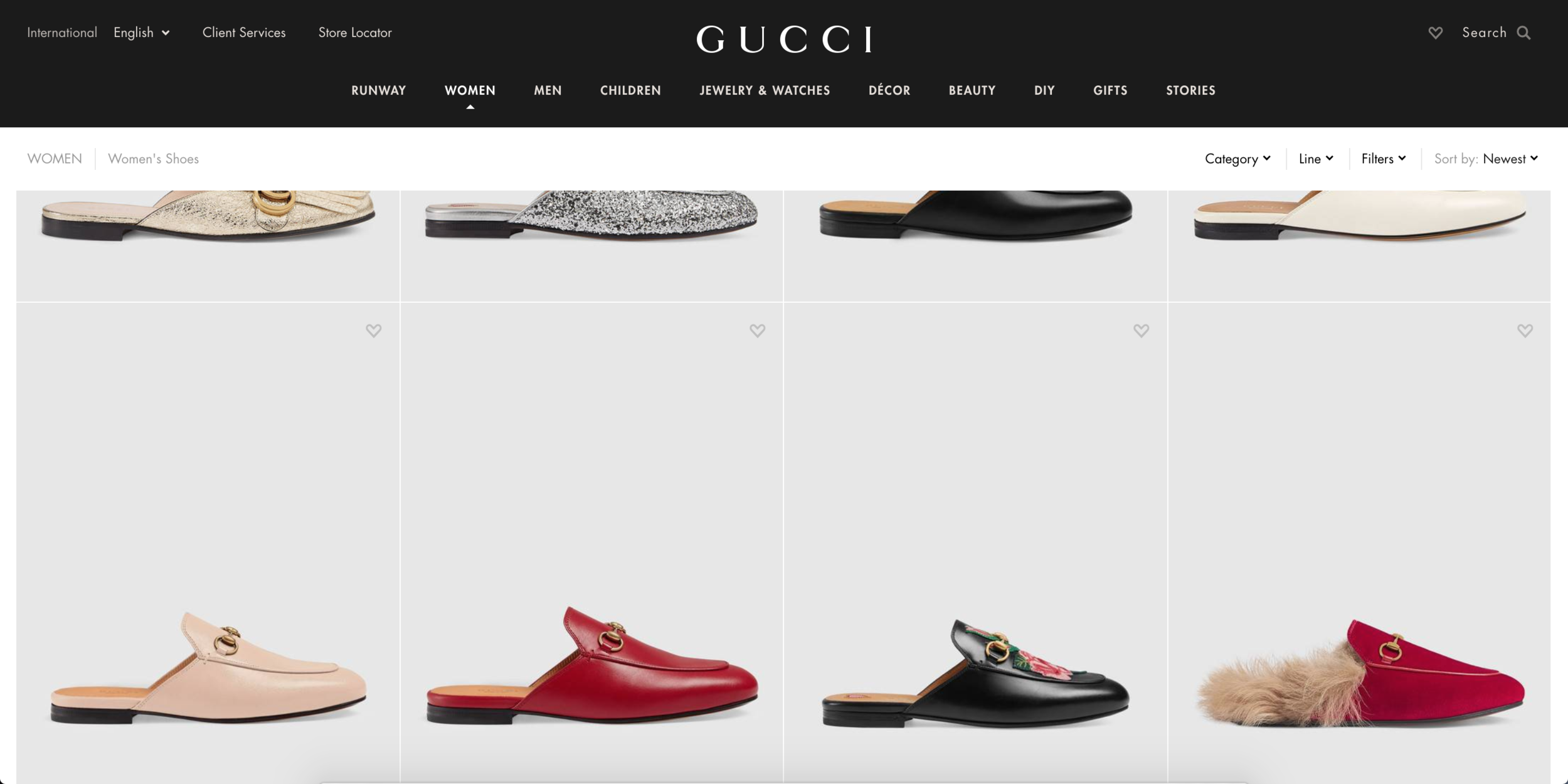 8444ec5bbf1 Most of the high fashion brands have mobile apps with a beautiful interface  and Gucci is one of them. Their shoes are very popular and often they have  a few ...