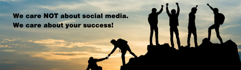 we care not about social media we care about your success by sebastian lecona from Kataplasma