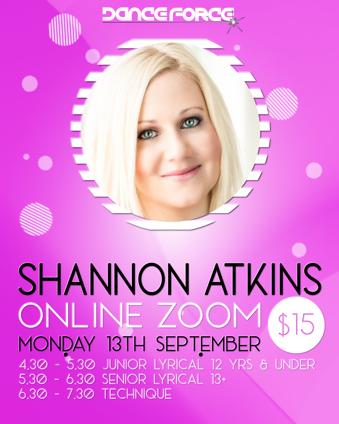 Zoom Class with Shannon Atkins