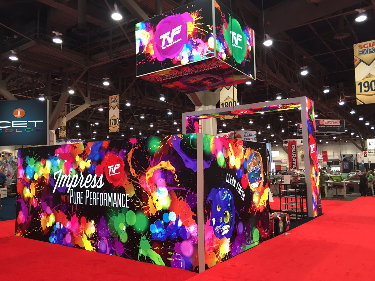 SEG tradeshow booth.