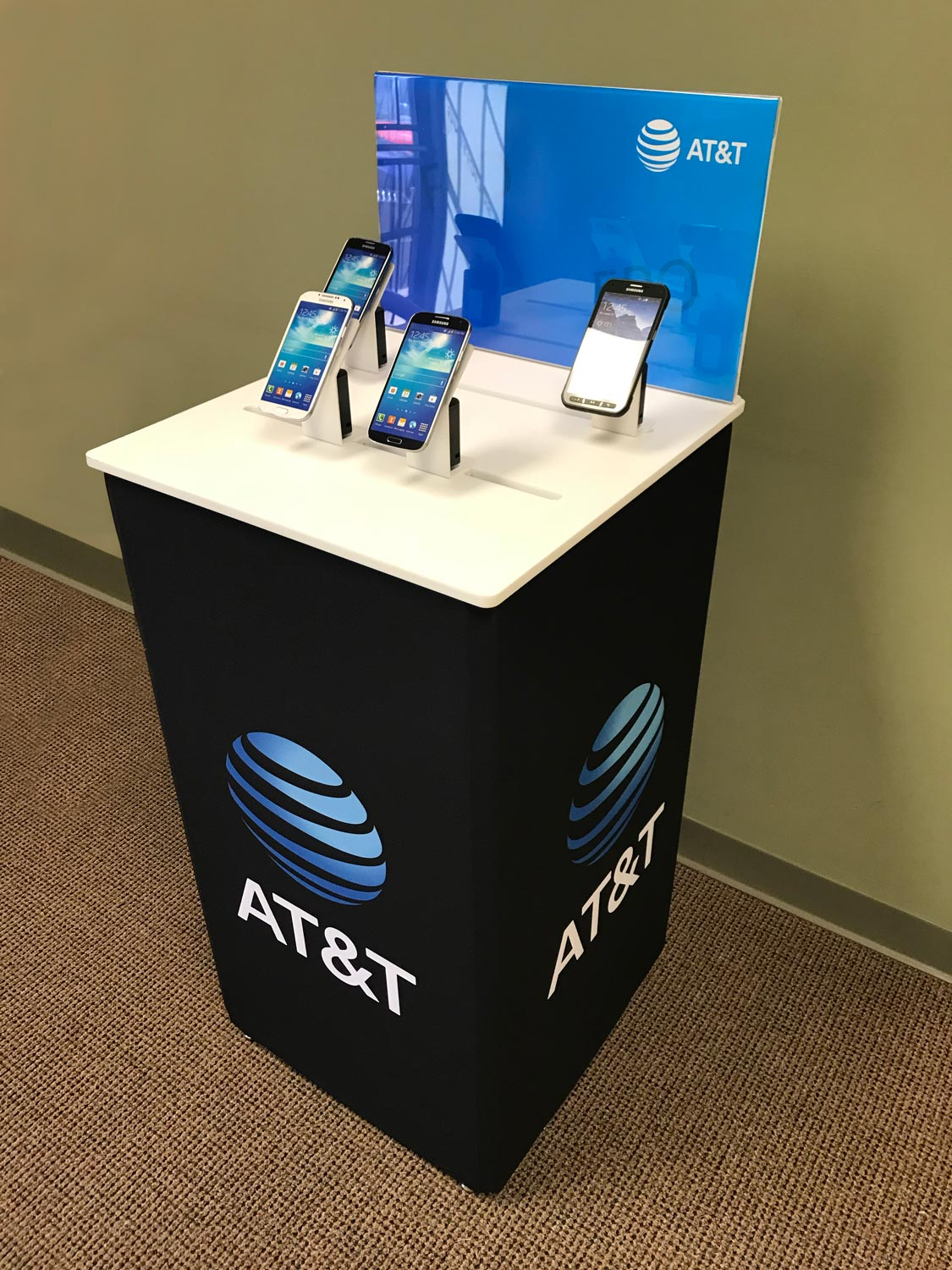 AT&T custom print stand.