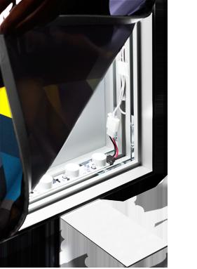 SEG backlit-sided frame