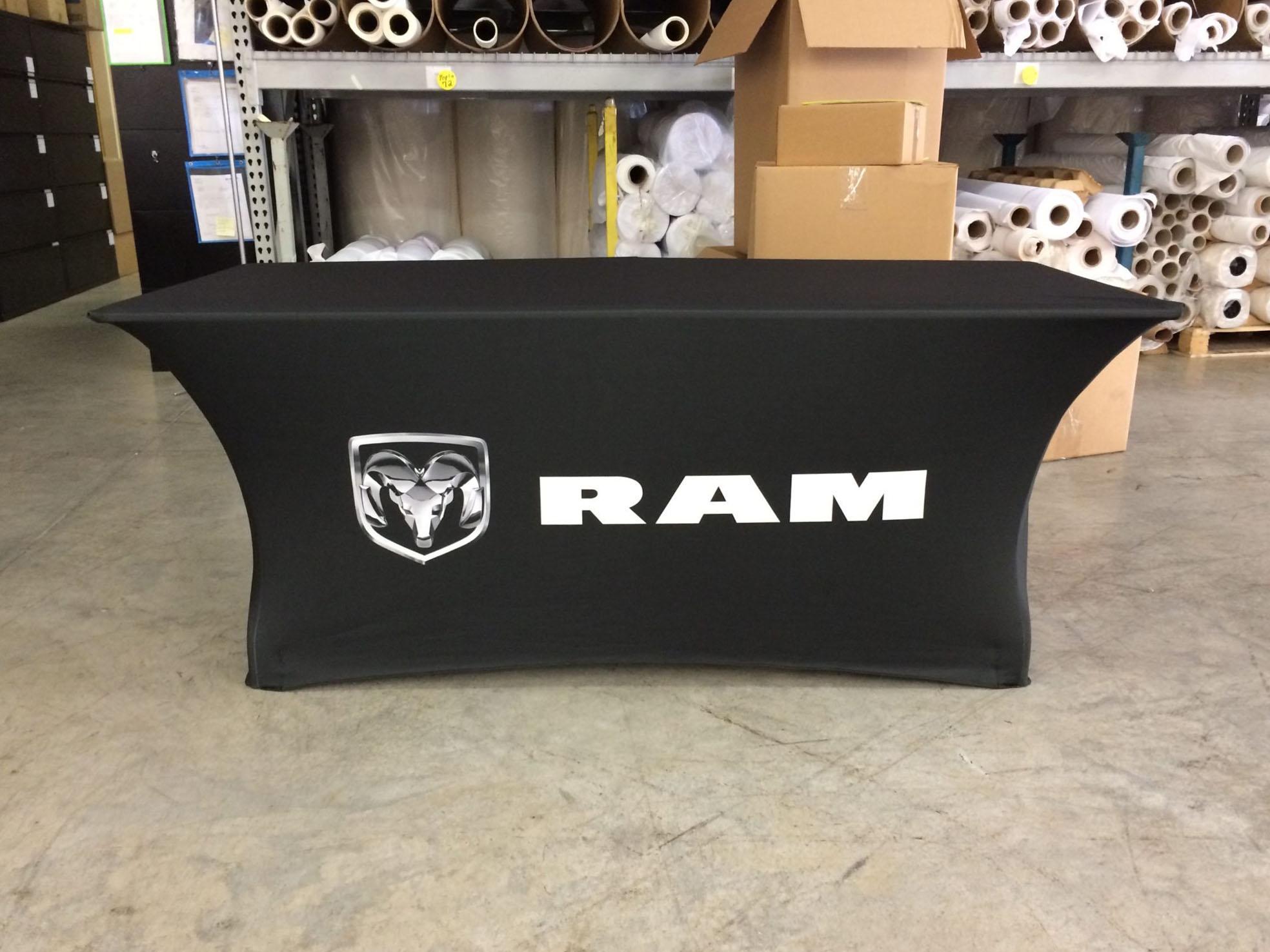 Table throw ram logo.