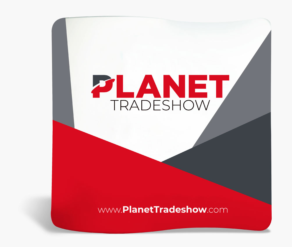 Planet Tradeshow fabric display.