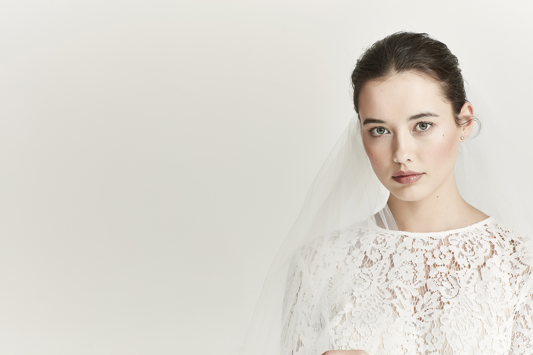 Auckland bridal store - Juliette Hogan wedding dress and veil