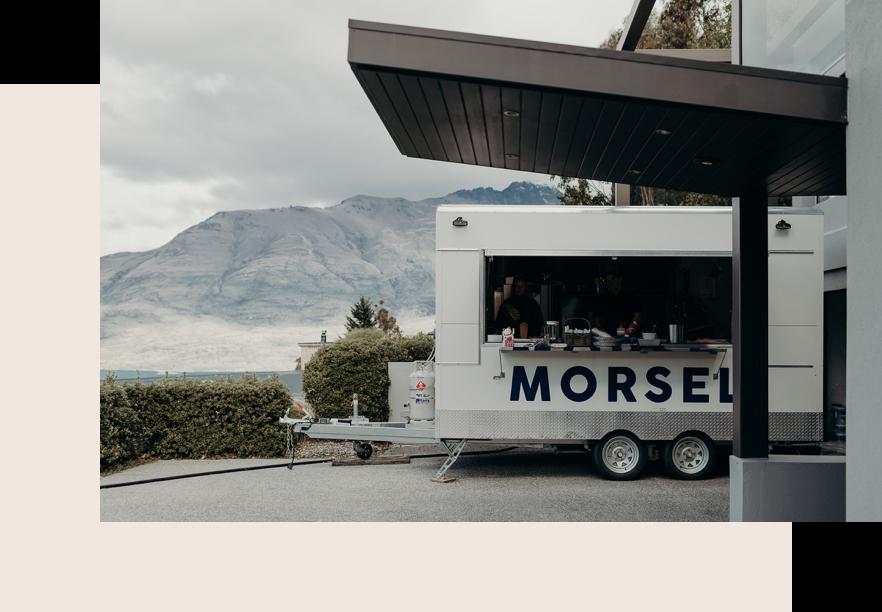 Morse food truck in Queenstown.