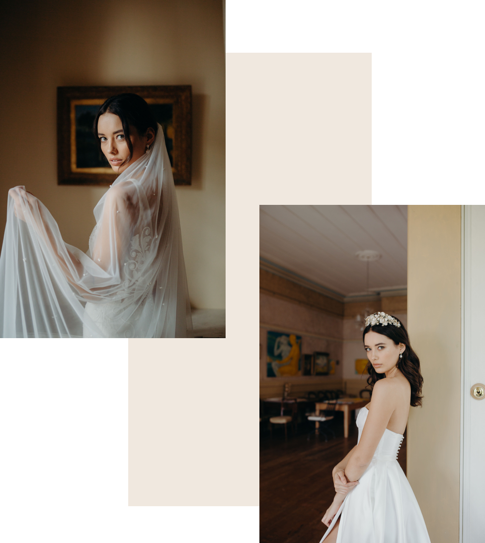 Hera Couture Bridal Veils and Headband