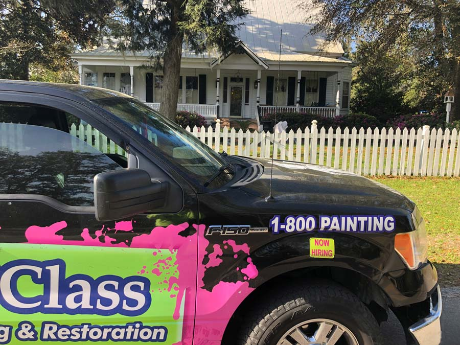 1st Class Painting & Restoration truck outside of Charleston, SC
