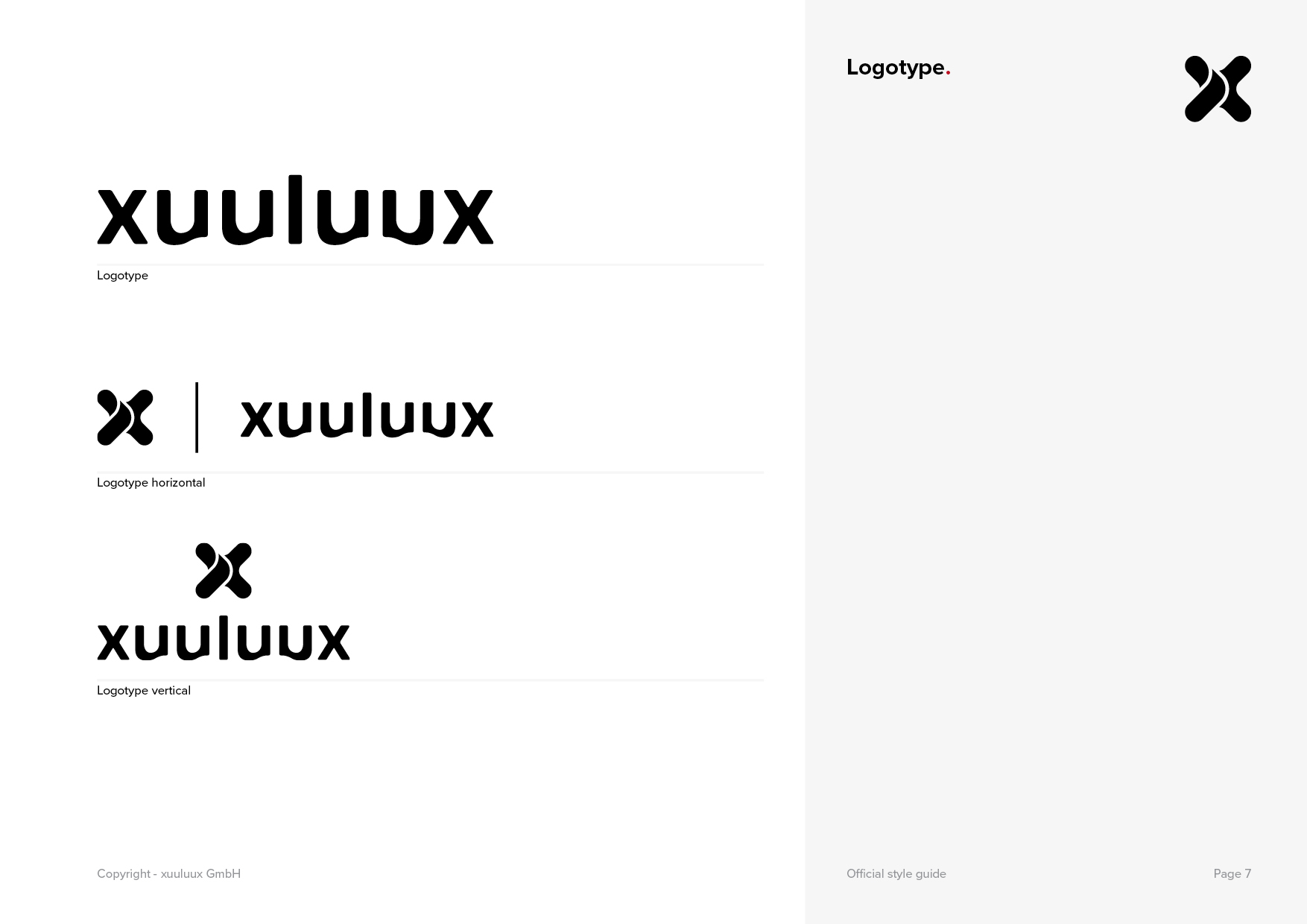 Page 7 of the official xuuluux Style Guide