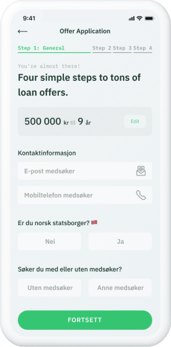 Kredscore native app screenshot
