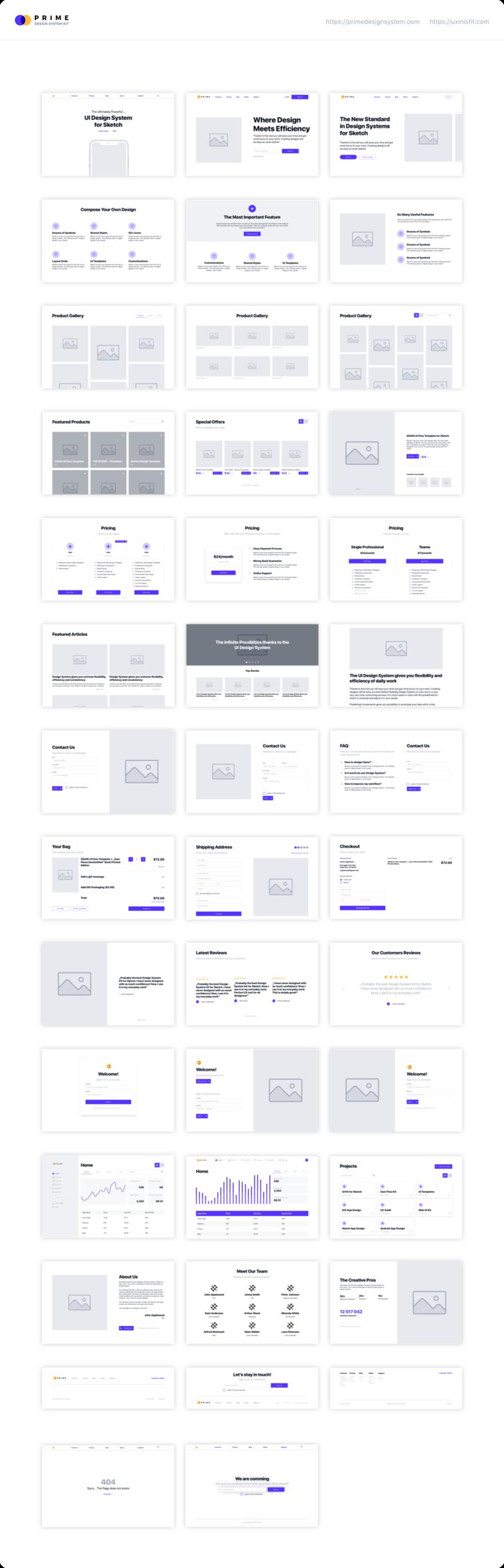 Prime Design System Kit for Sketch