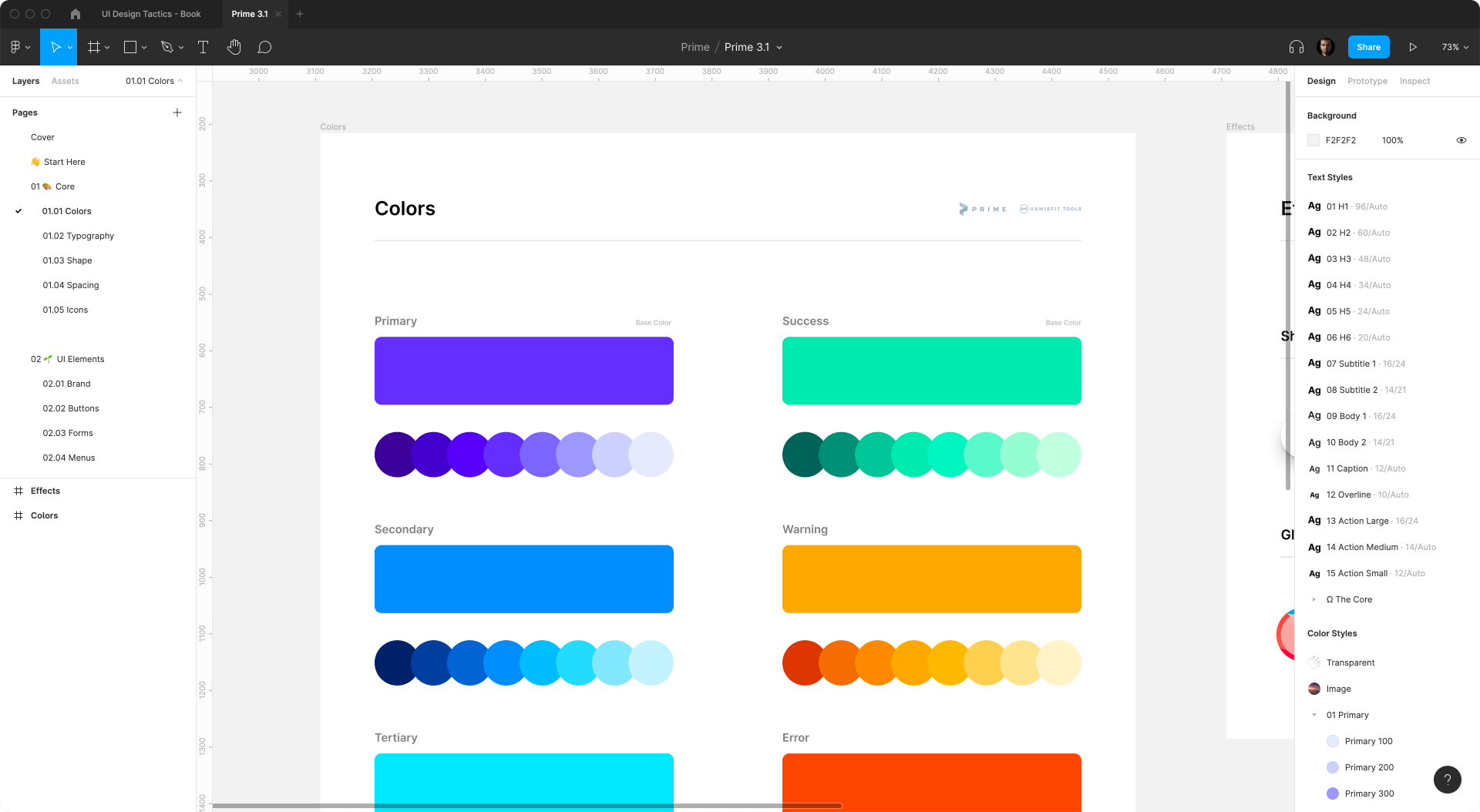 Prime 3 figma colors