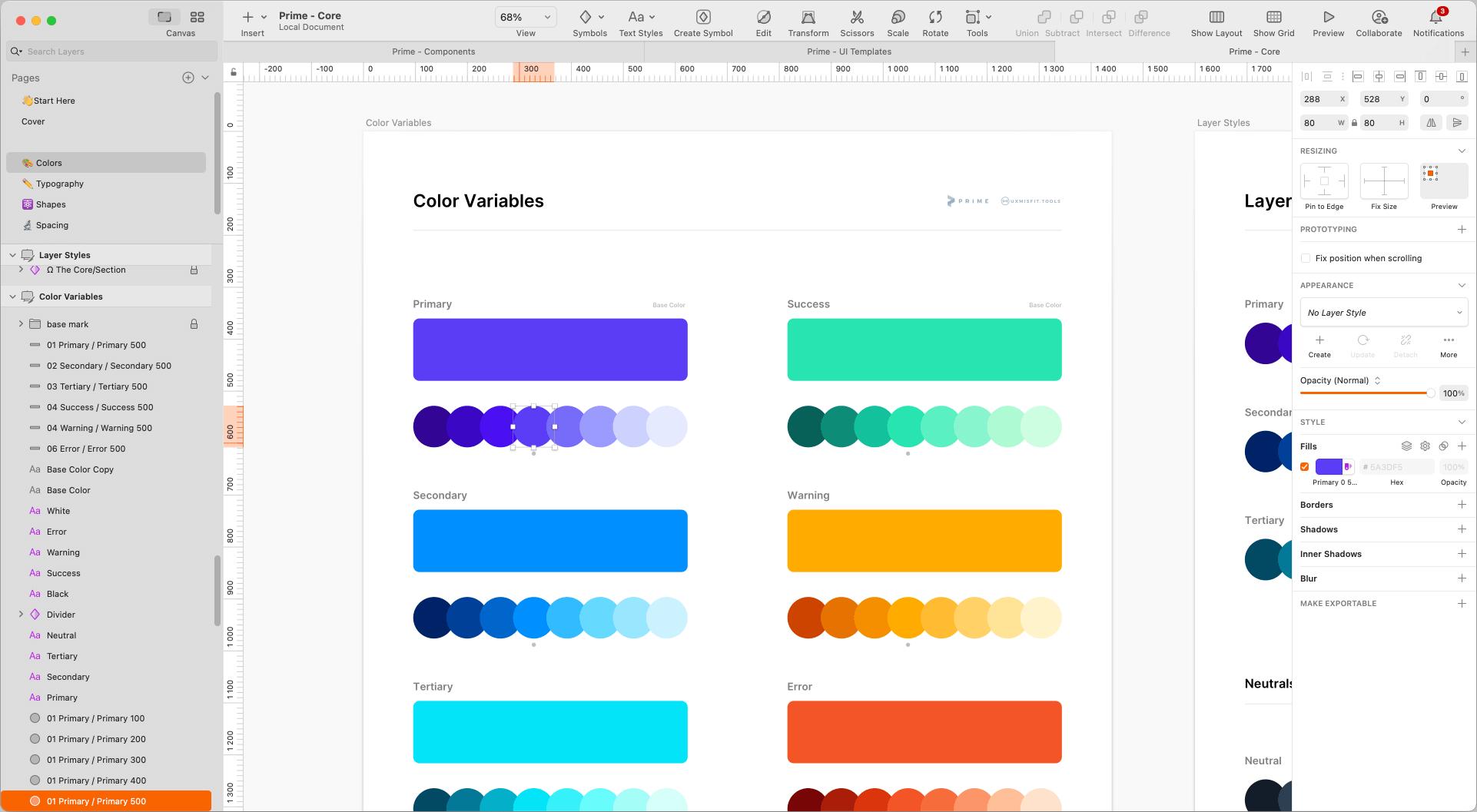 Prime 3 - colors