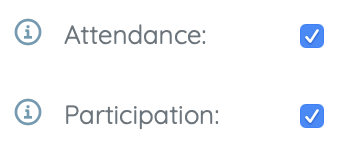 attendance and participation selectors