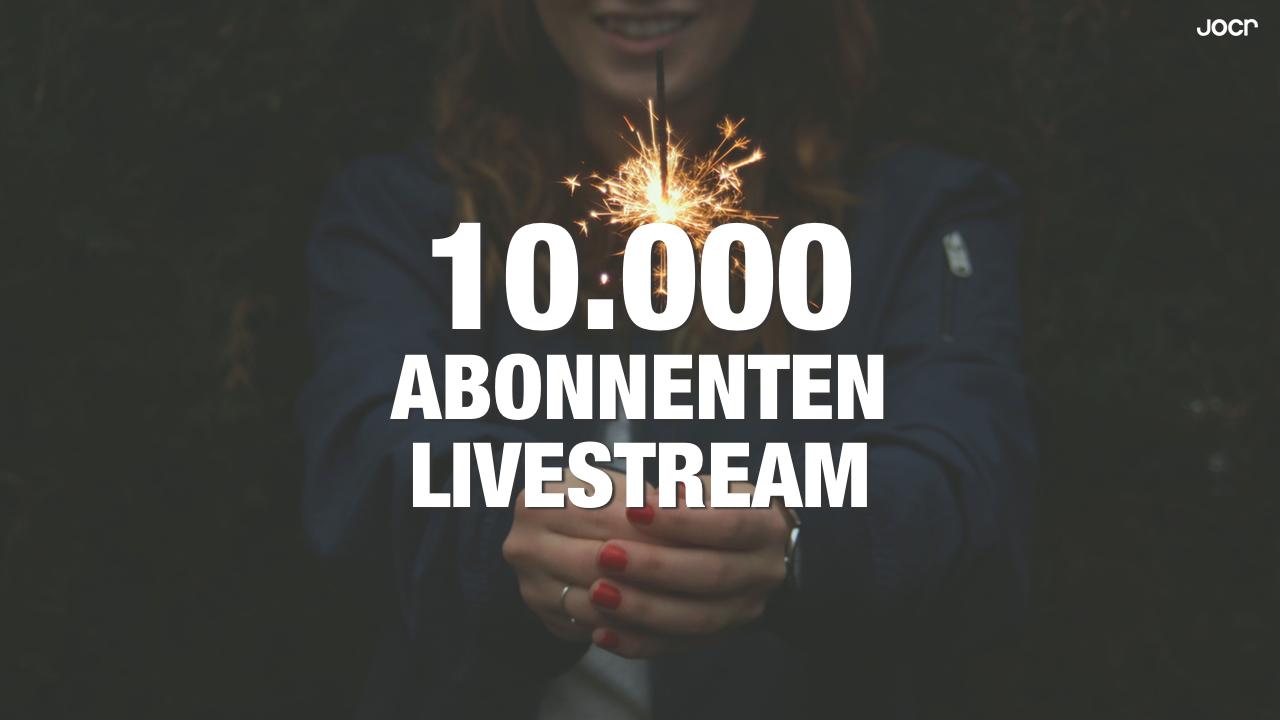 Jocr 10.000 Abonnenten