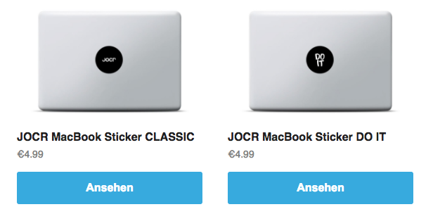 Jocr MacBook Sticker