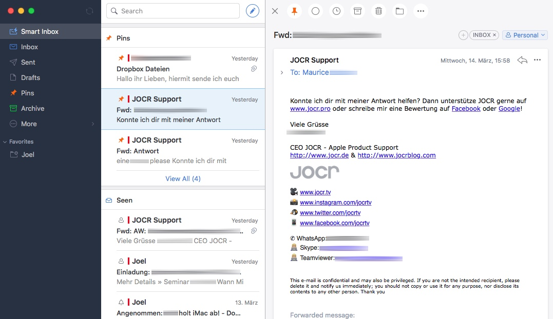 Jocr E-Mail Spark
