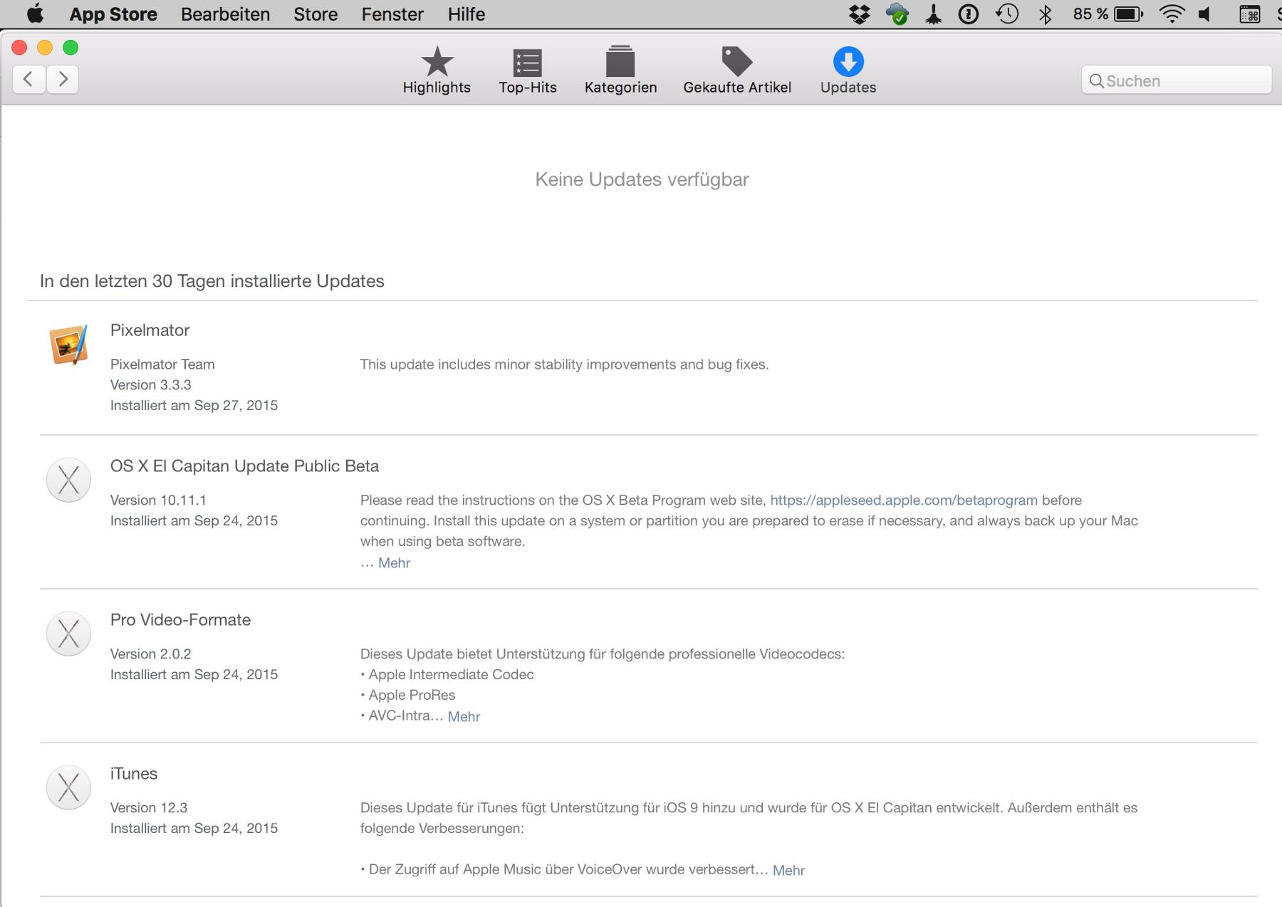 MacAppStore auf deinem Mac