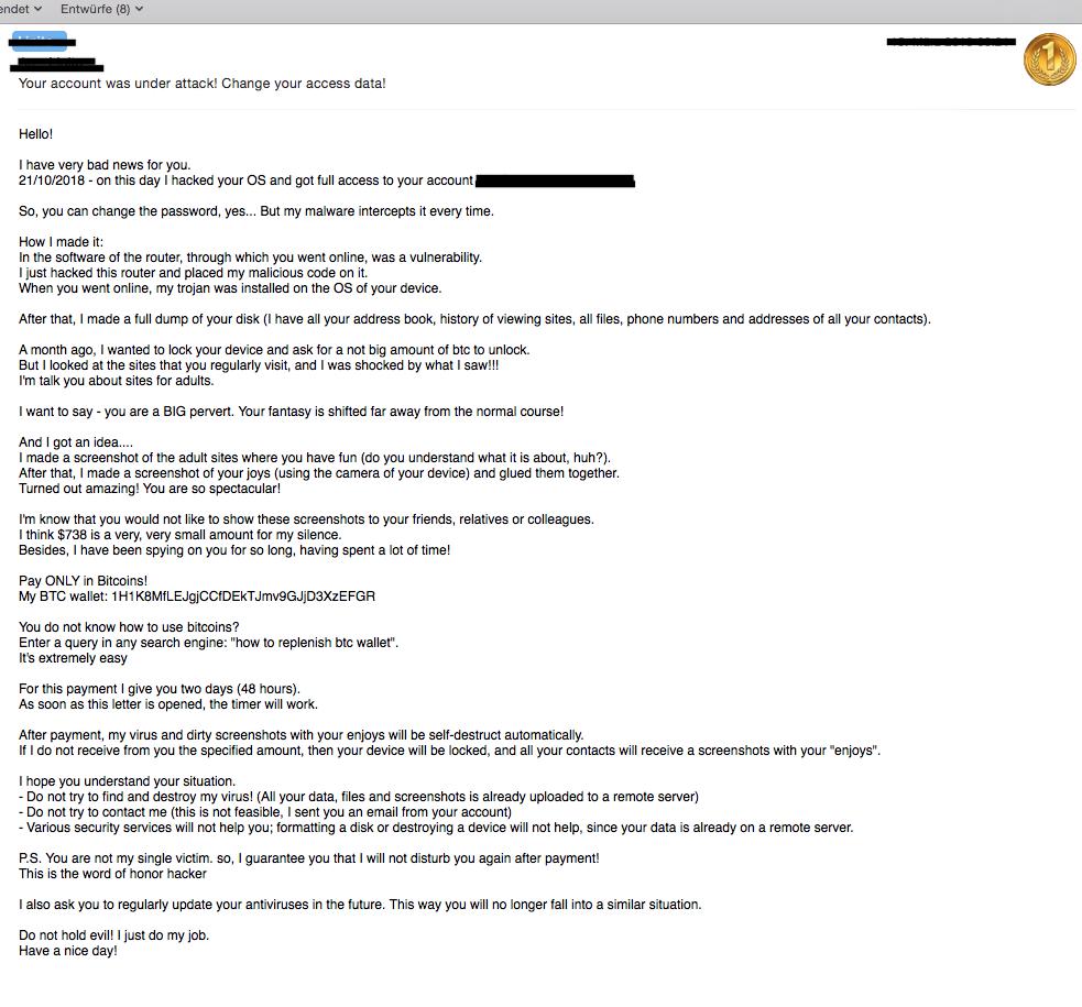Beispiel Hack Mail