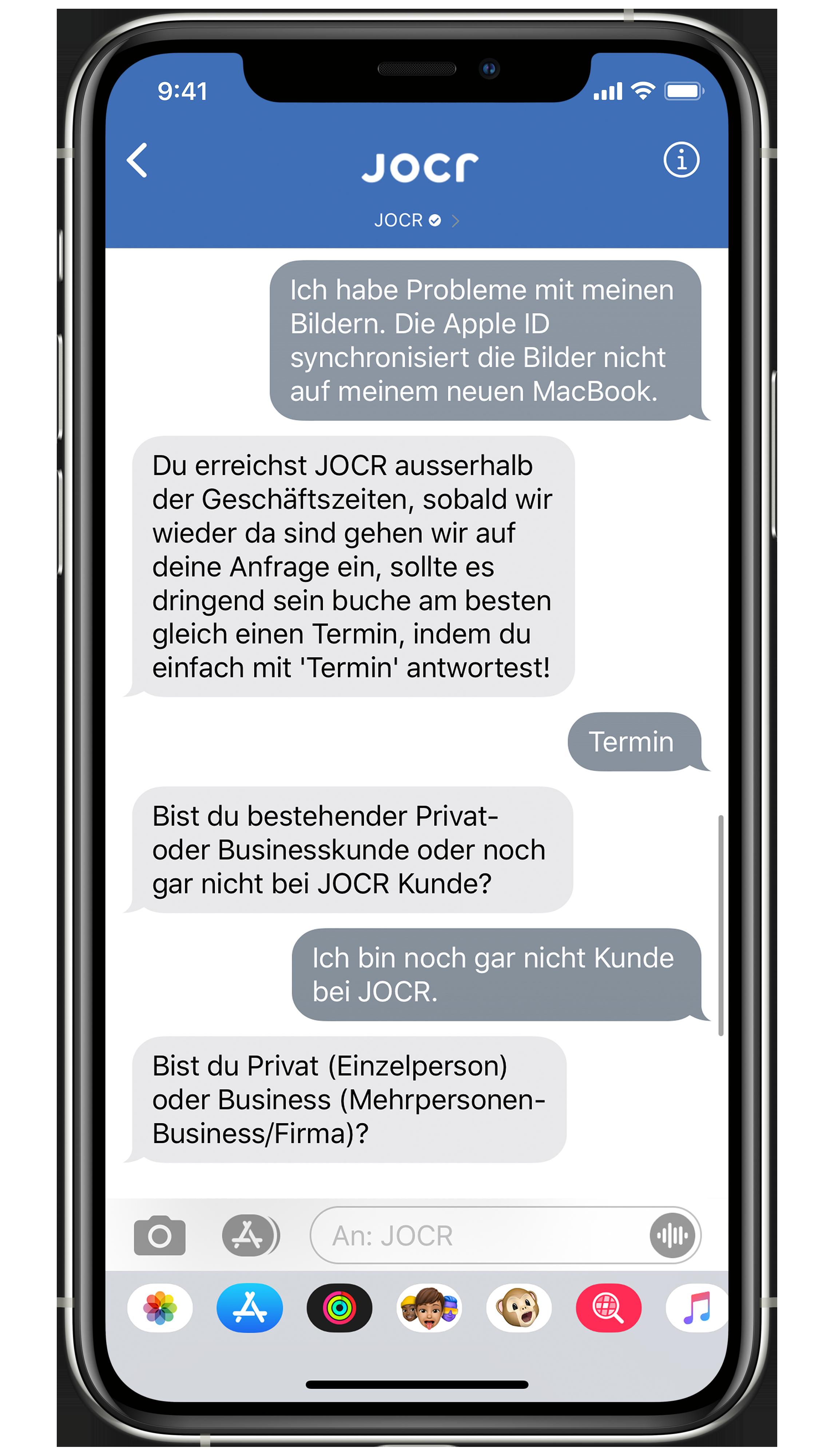 JOCR - Apple Business Chat