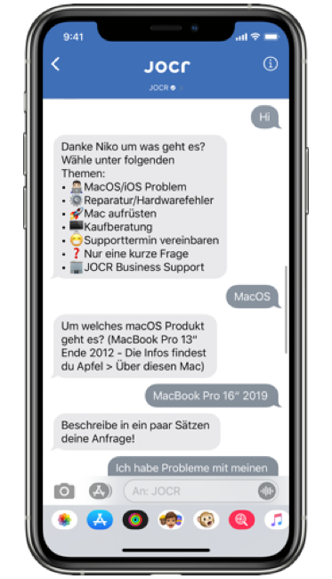 JOCR - Apple Business Chat