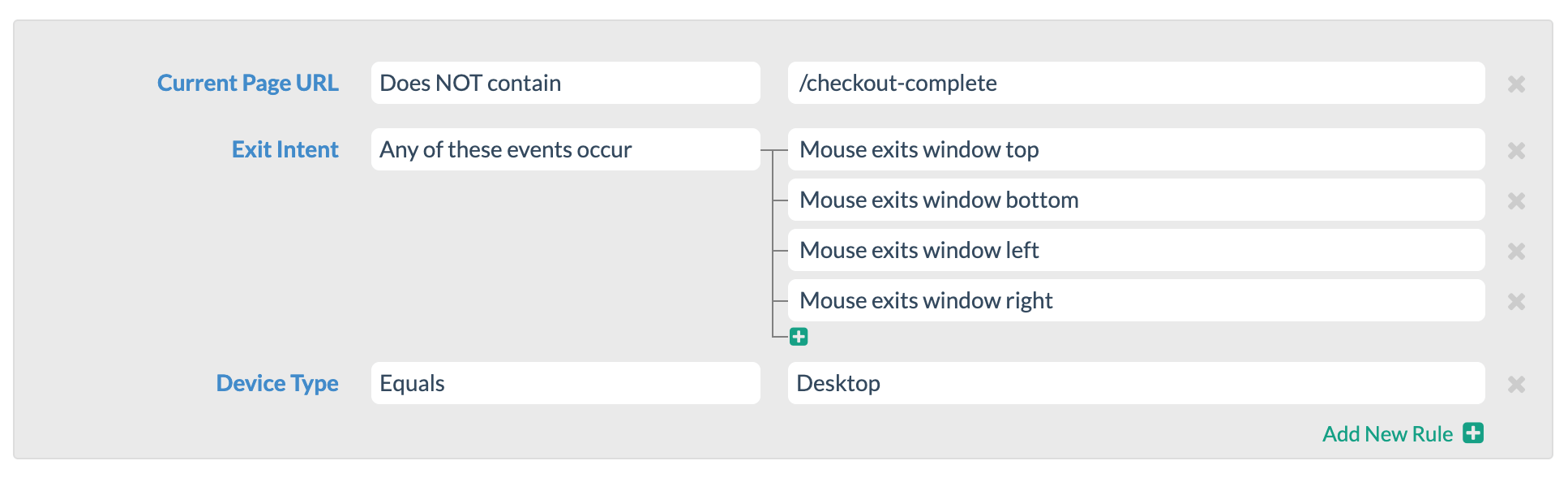 conditions editor
