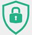 Lock symbol on a sheild