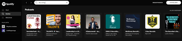 Recruiting Podcasts auf Spotify