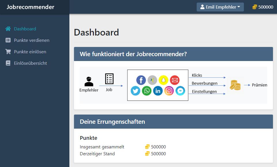 Digitales Mitarbeiterempfehlungsmanagement Jobrecommender
