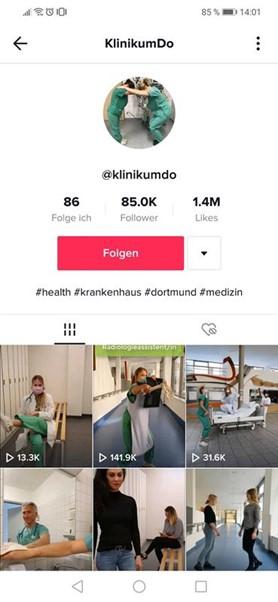 Klinikum Köln TikTok Karriereseite