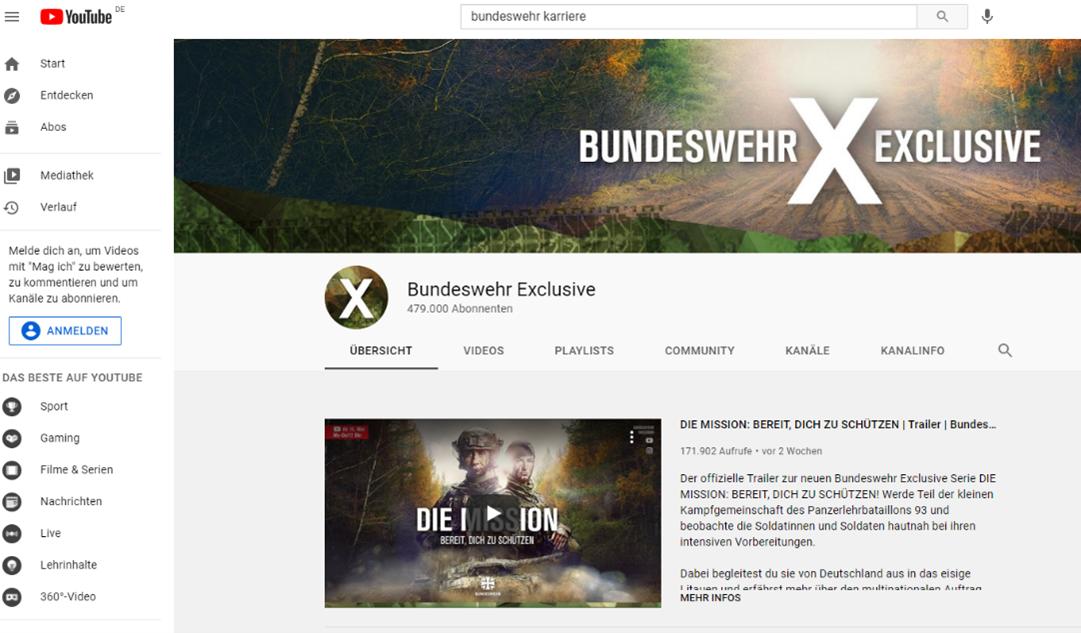 Bundeswehr Exclusive Youtube Kanal