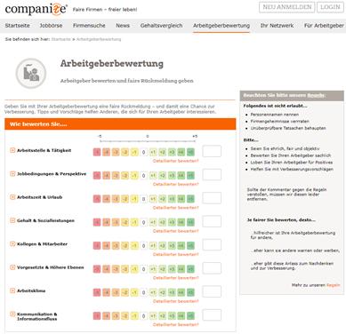 Arbeitgeberbewertungsplattform Companize