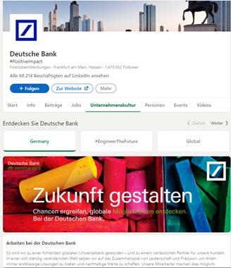 Deutsche Bank Karriere Untereseiten