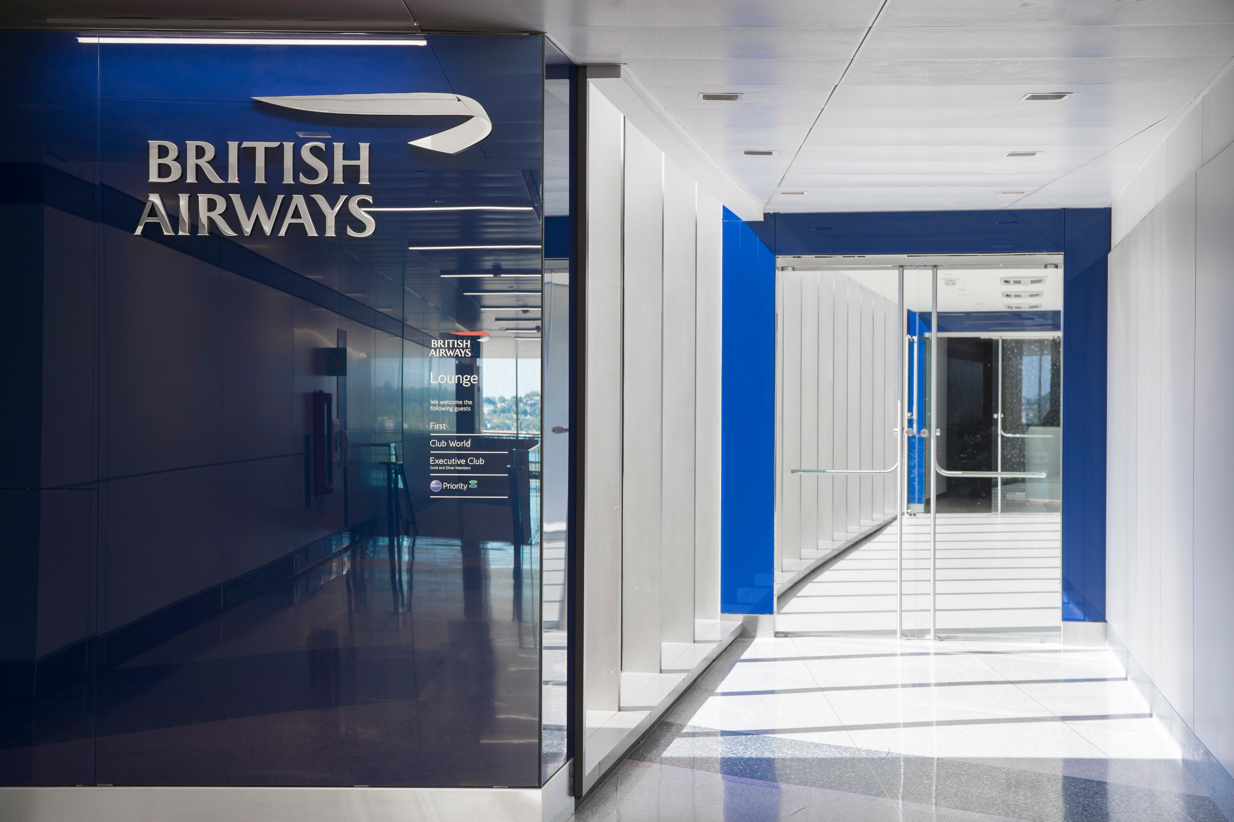 British Airways Lounge Entrance