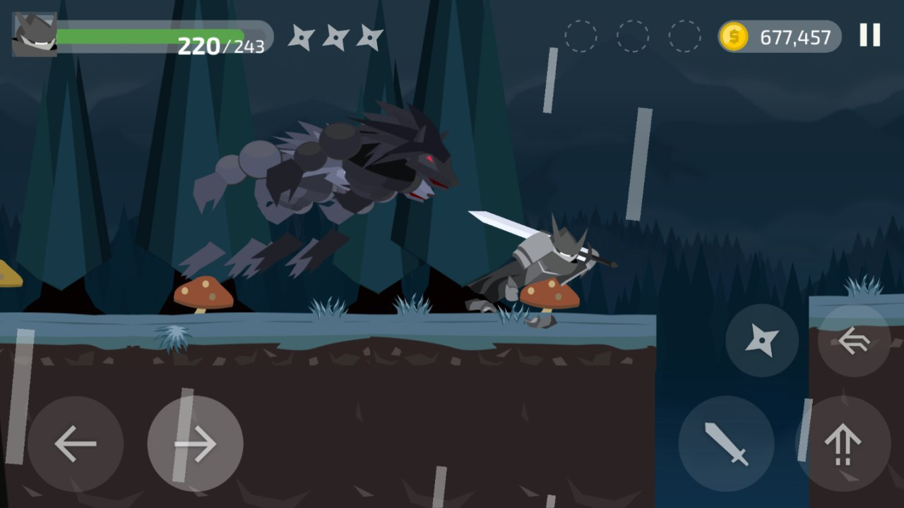Ninja Knight werewolf attacking