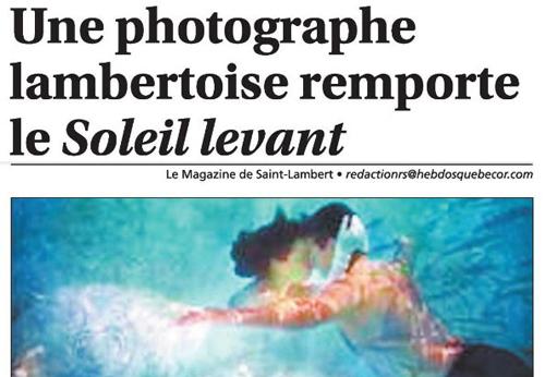 Parution dans le Magazine de Saint-Lambert