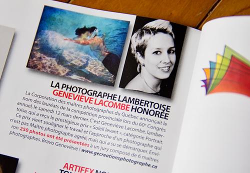 Parution dans magazine Lambert