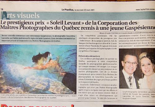 Parution dans le journal Le Pharillon